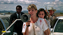 A still #8 from Hands of Steel (1986) with Janet Agren and Amy Werba