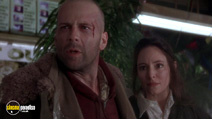 A still #9 from Twelve Monkeys with Bruce Willis and Madeleine Stowe