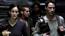 A still #22 from The Matrix Reloaded with Carrie-Anne Moss and Keanu Reeves