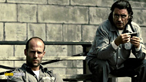 A still #5 from Death Race with Ian McShane and Jason Statham