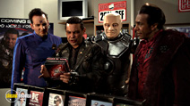 A still #8 from Red Dwarf: Series 9 (2009) with Robert Llewellyn, Danny John-Jules, Chris Barrie and Craig Charles