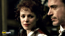 A still #2 from Sherlock Holmes with Robert Downey Jr. and Rachel McAdams