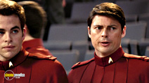 A still #6 from Star Trek with Karl Urban and Chris Pine