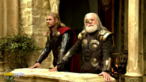 A still #4 from Thor: The Dark World with Anthony Hopkins and Chris Hemsworth