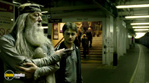 A still #3 from Harry Potter and the Half-Blood Prince with Michael Gambon and Daniel Radcliffe