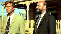 A still #4 from Wake in Fright (1971) with Donald Pleasence and Gary Bond