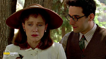 A still #9 from Barton Fink with John Turturro and Judy Davis
