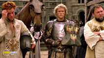 A still #12 from A Knight's Tale (2001) with Mark Addy, Heath Ledger and Alan Tudyk