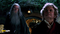 A still #16 from The Lord of The Rings: The Fellowship of The Ring with Ian McKellen and Ian Holm