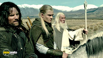 A still #20 from The Lord of the Rings: The Two Towers with Ian McKellen, Viggo Mortensen and Orlando Bloom