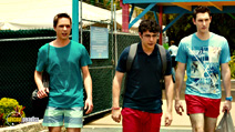 A still #19 from The Inbetweeners 2 with Joe Thomas, Simon Bird and Blake Harrison