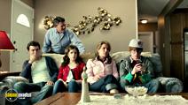 A still #3 from Rapture-Palooza (2013) with John Michael Higgins, Ana Gasteyer, Calum Worthy, John Francis Daley and Anna Kendrick