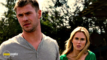 A still #18 from The Cabin in the Woods with Anna Hutchison and Chris Hemsworth