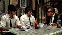 A still #21 from The Blues Brothers with Dan Aykroyd, John Belushi and Cab Calloway
