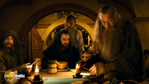 A still #17 from The Hobbit: An Unexpected Journey with Ian McKellen, Martin Freeman and Richard Armitage