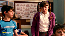 A still #30 from Diary of a Wimpy Kid 2: Rodrick Rules with Zachary Gordon and Laine MacNeil