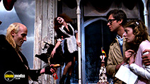 A still #22 from The Rocky Horror Picture Show with Susan Sarandon, Richard O'Brien, Barry Bostwick and Patricia Quinn