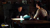A still #28 from Inglourious Basterds with Christoph Waltz and Denis Ménochet