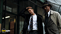 A still #34 from Seven with Morgan Freeman and Brad Pitt