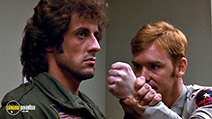 A still #27 from Rambo: First Blood with Sylvester Stallone and David Caruso