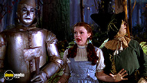 A still #13 from The Wizard of Oz with Judy Garland, Ray Bolger and Jack Haley