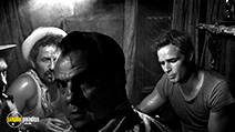 A still #19 from A Streetcar Named Desire with Marlon Brando and Karl Malden