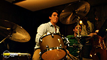 A still #24 from Whiplash with Miles Teller