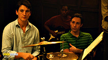 A still #23 from Whiplash with Miles Teller and Nate Lang