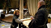 A still #61 from Game of Thrones: Series 5 with Conleth Hill and Peter Dinklage