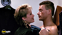 A still #3 from A.W.O.L. (1990) with Jean-Claude Van Damme and Deborah Rennard