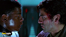 A still #5 from Star Wars: The Force Awakens with Oscar Isaac and John Boyega