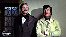 A still #6 from Royal Flash (1975) with Alan Bates and Oliver Reed