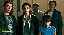 A still #6 from Robot Overlords (2014) with Callan McAuliffe, Ella Hunt, Sonny Green and Milo Parker