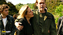 A still #7 from Robot Overlords (2014) with Gillian Anderson, Steven Mackintosh and Callan McAuliffe