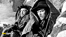 A still #4 from Day of the Outlaw (1959) with Lance Fuller and Jack Lambert