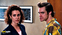 A still #9 from Ace Ventura: Pet Detective (1994) with Sean Young and Jim Carrey