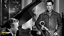 A still #3 from Here Comes Mr. Jordan (1941) with Robert Montgomery and Claude Rains