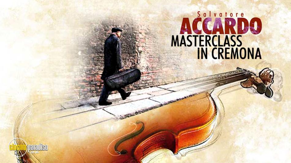 Salvatore Accardo: Masterclass in Cremona online DVD rental
