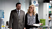 A still #2 from David Brent: Life on the Road (2016) with Ricky Gervais and Abbie Murphy