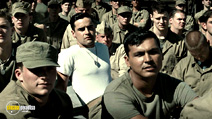 A still #15 from Flags of Our Fathers with Adam Beach and Jesse Bradford