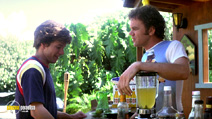 A still #6 from Boogie Nights with John C. Reilly and Mark Wahlberg