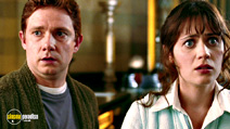 A still #9 from The Hitchhiker's Guide to the Galaxy (2005) with Zooey Deschanel and Martin Freeman