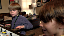 A still #8 from Paranormal Activity 4 (2012) with Brady Allen and Aiden Lovekamp