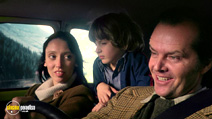 A still #5 from The Shining with Jack Nicholson, Shelley Duvall and Danny Lloyd