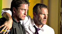 A still #2 from Olympus Has Fallen with Aaron Eckhart and Gerard Butler