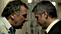 A still #7 from Michael Clayton with George Clooney and Tom Wilkinson