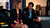 A still #6 from Bridesmaids with Chris O'Dowd and Kristen Wiig