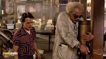 A still #11 from Back to the Future: Part 1 with Christopher Lloyd and Michael J. Fox