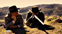 A still #7 from Django Unchained with Jamie Foxx and Christoph Waltz