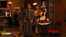 A still #9 from Django Unchained with Jamie Foxx, Christoph Waltz and Dennis Christopher